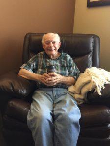 Sam at his retirement home