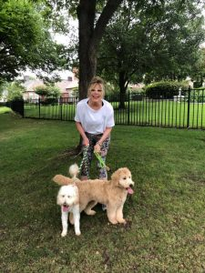cathy and the dogs